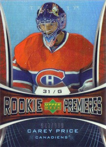 Carey Price Rookie Cards Checklist and Guide 18