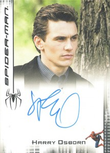 2007 Rittenhouse Spider-Man 3 Autographs James Franco