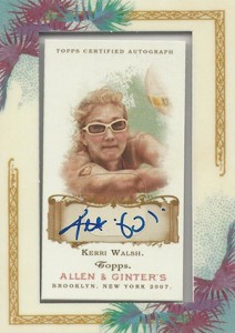 2007 Topps Allen and Ginter Kerri Walsh Autograph