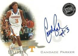 2008-09 Press Pass Candace Parker Autograph