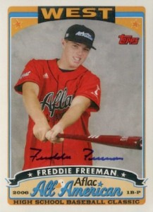 2008 Bowman Draft Picks Prospects AFLAC Autographs Freddie Freeman 217x300 Image