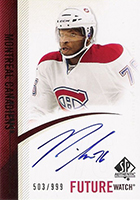 P.K. Subban Cards, Rookie Cards and Autographed Memorabilia Guide