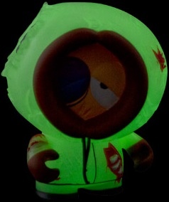 2011 Kidrobot South Park Mini Vinyl Figures Glow-in-the-Dark GID Dead Kenny 1