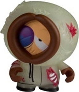 2011 Kidrobot South Park Mini Vinyl Figures Glow-in-the-Dark GID Dead Kenny