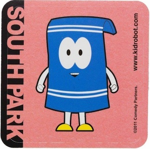 2011 Kidrobot South Park Towelie Sticker
