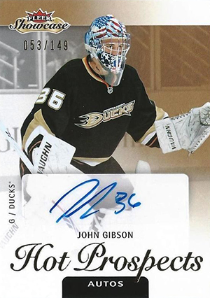 2013-14 Fleer Showcase John Gibson RC