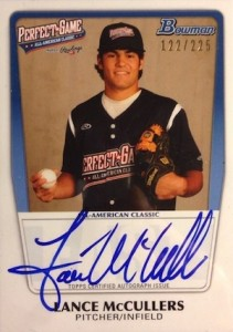 2013 Bowman Perfect Game Autographs Lance McCullers