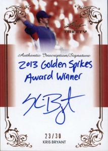 2013 Leaf Trinity Inscription Autographs Kris Bryant
