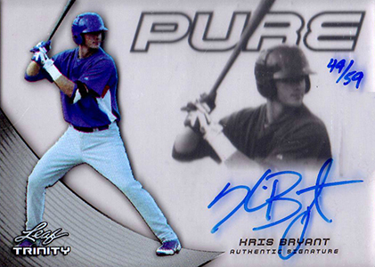 2013 Leaf Trinity Pure Glass Autographs Kris Bryant
