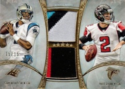 2013 Topps Five Star Football Dual Patch Matt Ryan Cam Newton