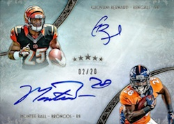 2013 Topps Five Star Football Futures Dual Autographs