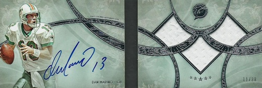 2013 Topps Five Star Football Signature Book Dan Marino