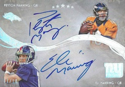 2013 Topps Five Star Football Superstar Combos Eli Peyton Manning
