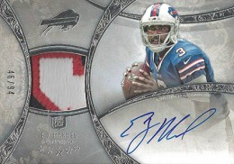 2013 Topps Five Star Rookie Autographed Patch 102 EJ Manuel