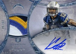 2013 Topps Five Star Rookie Autographed Patch 128 Kennan Allen