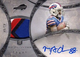 2013 Topps Five Star Rookie Autographed Patch 136 Marquise Goodwin