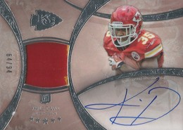 2013 Topps Five Star Rookie Autographed Patch 138 Knile Davis