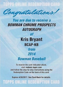 See All the 2014 Bowman Baseball Chrome Prospect Autographs 33