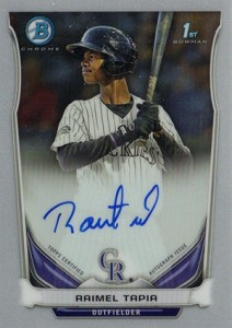 See All the 2014 Bowman Baseball Chrome Prospect Autographs 24