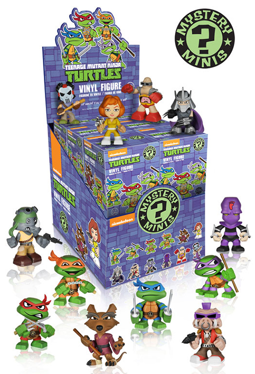 2014 Funko Teenage Mutant Ninja Turtles Mystery Minis Case