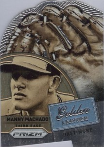2014 Panini Prizm Baseball Golden Leather Die-Cut Manny Machado