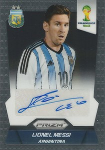 2014 Panini Prizm World Cup Autographs Lionel Messi