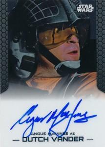 2014 Topps Star Wars Chrome Perspectives Autographs Angus MacInnes as Dutch Vander