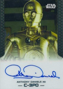 2014 Topps Star Wars Chrome Perspectives Autographs Anthony Daniels as C-3P0