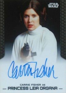 2014 Topps Star Wars Chrome Perspectives Autographs Carrie Fisher as Princess Leia Organa