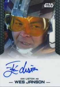 2014 Topps Star Wars Chrome Perspectives Autographs Ian Liston as Wes Janson