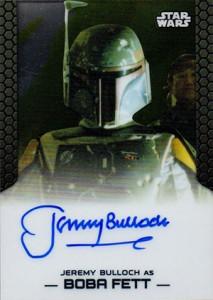 2014 Topps Star Wars Chrome Perspectives Autographs Jeremy Bulloch as Boba Fett