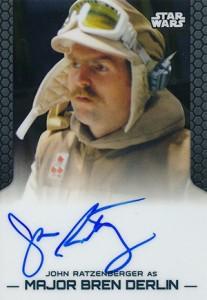 2014 Topps Star Wars Chrome Perspectives Autographs John Ratzenberger as Major Bren Derlin