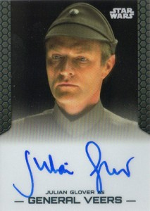 2014 Topps Star Wars Chrome Perspectives Autographs Julian Glover as General Veers