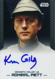 2014 Topps Star Wars Chrome Perspectives Autographs Kenneth Colley as Admiral Piett