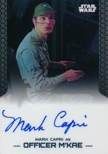 2014 Topps Star Wars Chrome Perspectives Autographs Mark Capri as Officer MKae
