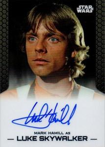 2014 Topps Star Wars Chrome Perspectives Autographs Mark Hamill as Luke Skywalker