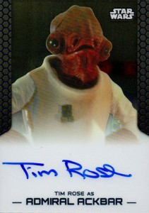 2014 Topps Star Wars Chrome Perspectives Autographs Tim Rose as Admiral Ackbar