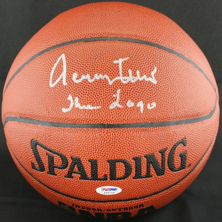 Jerry West Signed Basketball
