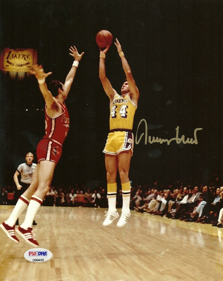 Jerry West Signed Photograph