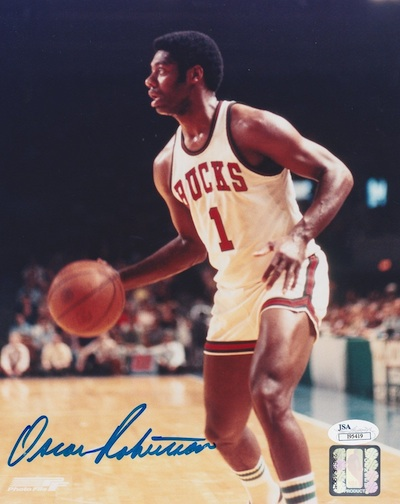 Oscar Robertson Signed Photo
