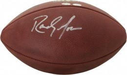 Randy Moss Signed Football