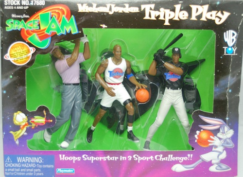Space Jam Michael Jordan Figures Triple Play