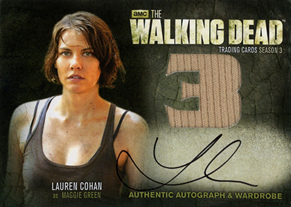 Walking Dead Season 3 Part 1 Autographed Wardrobe