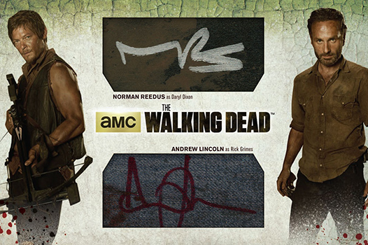 2014 Cryptozoic Walking Dead Season 3 Part 1 Dual Autograph Wardrobe Redemption