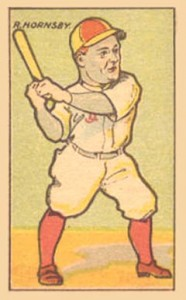 1916 W-UNC Strip Card Rogers Hornsby
