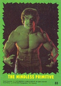 1979 Topps Incredible Hulk Trading Cards 1