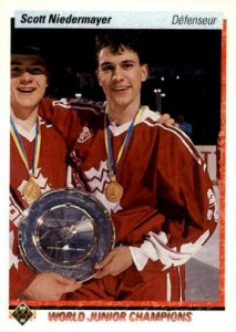 1990-91 Upper Deck French Scott Niedermayer RC