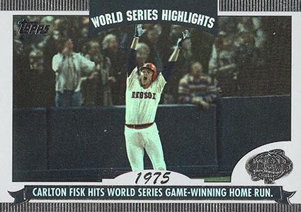 2004 Topps World Series Highlights Carlton Fisk