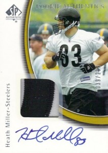2005 SP Authentic Heath Miller RC