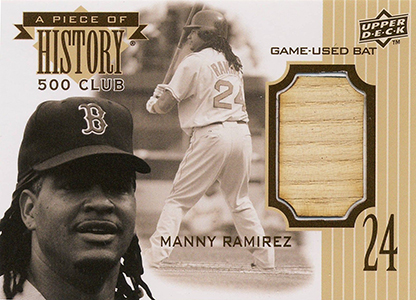 2008 Upper Deck Piece of History 500 Home Run Club Manny Ramirez